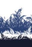 Sömlös modell för härligt tropiskt blad i vektor, vektor illustrationer