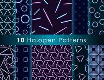 Sömlös modell för Halogen Stock Illustrationer
