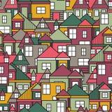 Sömlös modell för hus Arkivbilder