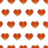 Sömlös modell för illustrationädelstenhjärta Bakgrund för dag för valentin` s Royaltyfri Fotografi