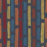 Sömlös modell för infödd vektor inklusive enthnic mångfärgade sidor som bakgrund eller textur royaltyfri fotografi