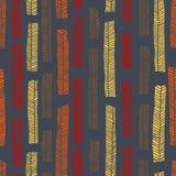 Sömlös modell för infödd vektor inklusive enthnic mångfärgade sidor som bakgrund eller textur arkivbilder
