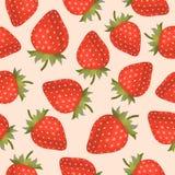 sömlös modell för jordgubbefrukt royaltyfri illustrationer