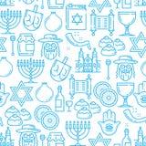 Sömlös modell för judendomreligion, judiska symboler stock illustrationer