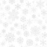 Sömlös modell för jul från snöflingor Royaltyfri Bild