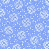 Sömlös modell för jul från vit snowflakes+ Royaltyfria Bilder