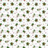 Sömlös modell för julbärgarnering Fotografering för Bildbyråer