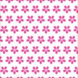 Sömlös modell för körsbärsröd blomning på vit bakgrund Royaltyfri Bild