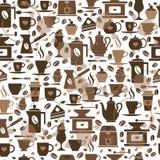 Sömlös modell för kaffe med koppar Royaltyfri Bild