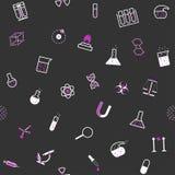 Sömlös modell för kemivetenskapslägenhet Royaltyfria Bilder