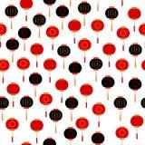 Sömlös modell för kinesisk lykta vektor illustrationer