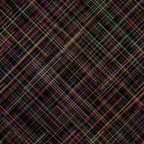 Sömlös modell för kontrast lines på måfå colors vibrerande Plädabstrakt begreppmodell Royaltyfria Foton
