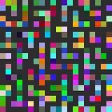 Sömlös modell för labyrint Svart fodrar mångfärgade fyrkanter vektor Royaltyfri Bild