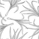 Sömlös modell för Lemongrass stock illustrationer