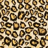 Sömlös modell för leopardgepardhud, vektor Stiliserad prickig leopardhudbakgrund för mode, tryck, tyg vektor vektor illustrationer