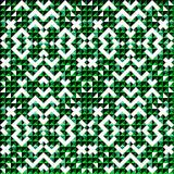 Sömlös modell för liten grön kulör bakgrund för PIXEL härlig abstrakt geometrisk Royaltyfri Fotografi