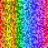 Sömlös modell för ljus kulör rektangelmosaik för regnbåge Arkivbilder
