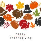 Sömlös modell för lycklig tacksägelsedag med stock illustrationer