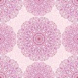 Sömlös modell för Mandala, östligt vektormotiv Vektor Illustrationer