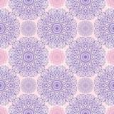 Sömlös modell för Mandala, östligt vektormotiv Stock Illustrationer