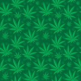 Sömlös modell för marijuana Cannabis är en ändlös textur Medicinsk hampa som upprepar bakgrund också vektor för coreldrawillustra Royaltyfri Foto