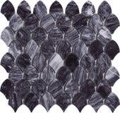 Sömlös modell för marmor för svart diamant formad mosaisk Arkivbilder