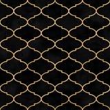 Sömlös modell för marockansk svart dekorativ sammetvattenfärg för tappning royaltyfria foton