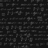 Sömlös modell för matematiska formler Vit krita Royaltyfri Foto