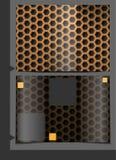 Sömlös modell för metallisk textur. Arkivfoton