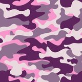 Sömlös modell för militär kamouflage, purpurfärgad monokrom Klassisk klädstil som maskerar camorepetitiontrycket rubinfärgtextur  Arkivfoton