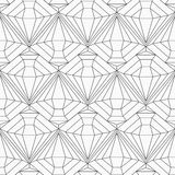 Sömlös modell för monokrom diamant Arkivbilder