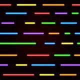 Sömlös modell för neon Ljusa neonlinjer för vektor Royaltyfria Bilder