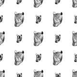 Sömlös modell för noshörning Arkivbild