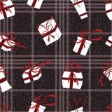 Sömlös modell för nytt år härlig vektor för juldesignillustration Arkivfoton