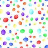 Sömlös modell för olika ballonger Vektorillustration som isoleras på vit bakgrund royaltyfria foton