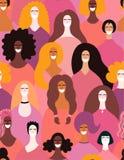 Sömlös modell för olika kvinnor royaltyfri illustrationer