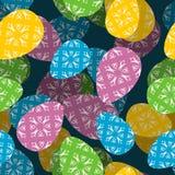 Sömlös modell för påsk 3D bakgrund för ägg för påsk 3d Textur fo Arkivbilder