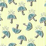 Sömlös modell för paraply royaltyfri illustrationer
