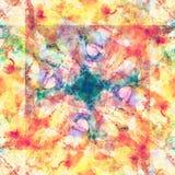 Sömlös modell för patchworkvattenfärg Royaltyfri Fotografi