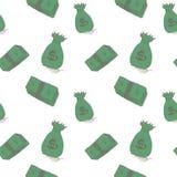 Sömlös modell för pengar Arkivfoton
