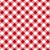 Sömlös modell för picknicktabelltorkduk Röd picknickplädtextur royaltyfri illustrationer
