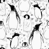Sömlös modell för pingvinlivsstil Royaltyfri Fotografi