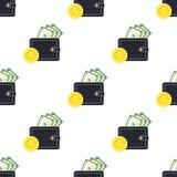 Sömlös modell för plånboksedelmynt Royaltyfria Foton