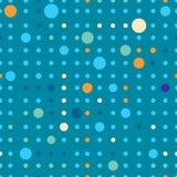 Sömlös modell för prickar Pricker olika format och färgar Fotografering för Bildbyråer