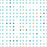 Sömlös modell för prickvektor Prickar av olika färger Arkivfoton