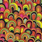 Sömlös modell för psykedeliska vågor Vektor Illustrationer