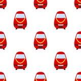 Sömlös modell för röd drevlägenhetsymbol Royaltyfri Bild