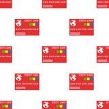 Sömlös modell för röd kreditkortsymbol Royaltyfri Foto