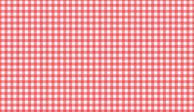 Sömlös modell för röd och vit gingham Textur från romb/squ royaltyfri illustrationer