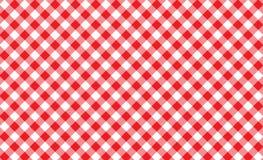 Sömlös modell för röd och vit gingham Textur från romb/squ stock illustrationer